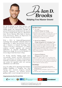 Dr. Ian D. Brooks Speaker Sheet