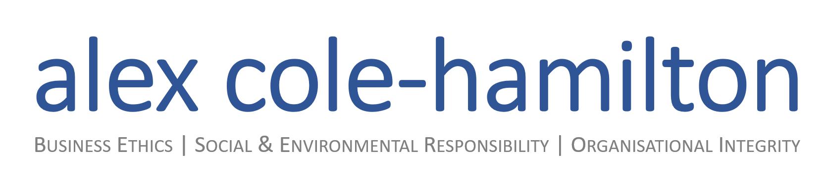Alex Cole-Hamiliton | Organisational Integrity