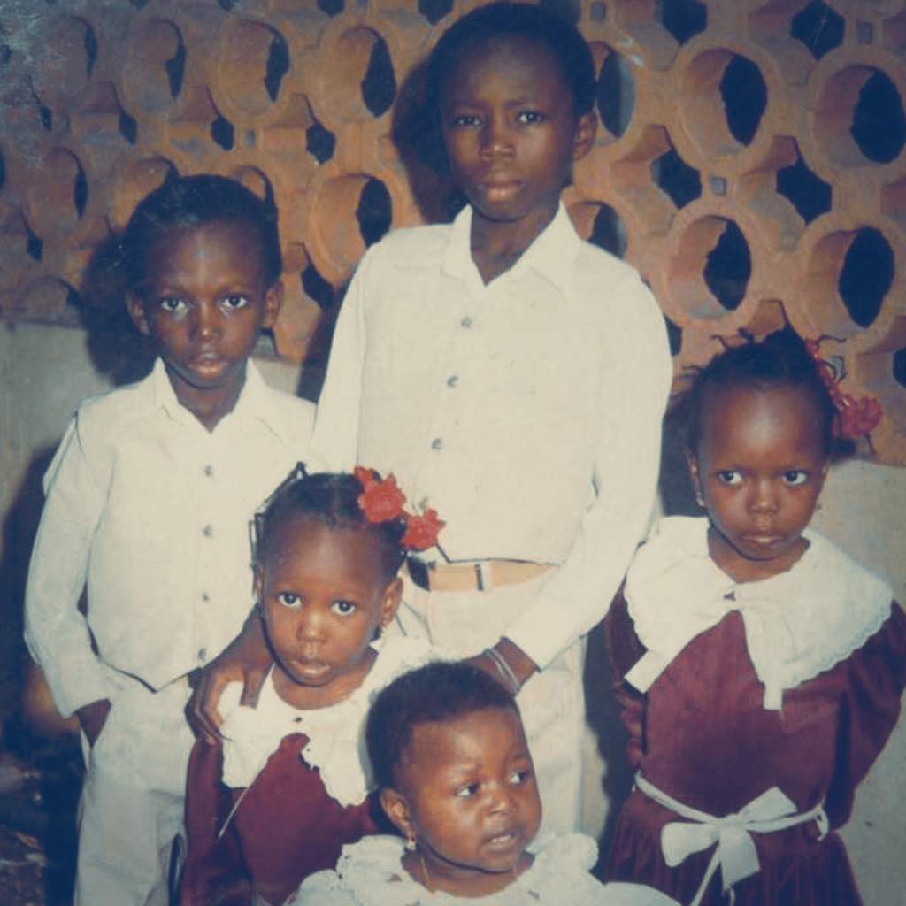 This is a picture of Ade and his younger brother and two sisters. He grew up in Nigeria and never thought that Oxford University would be on the cards for him.