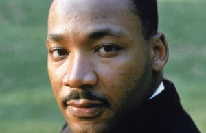 Martin Luther King Jr, spokesperson and leader in the civil rights movement from 1955 until his assassination in 1968.
