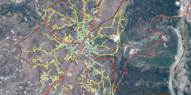 خريطة عندقت التفصيلية