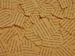 कुछ लमहे - torn pieces of a novel page
