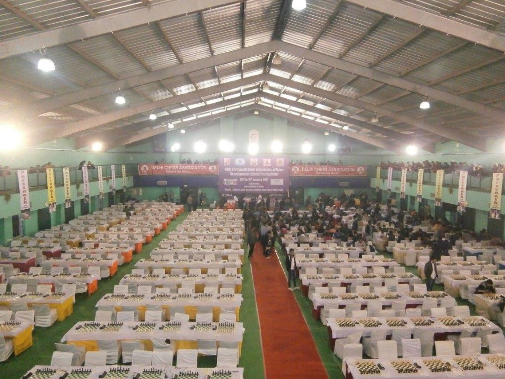 Playing Hall at the 2015 Delhi International Open