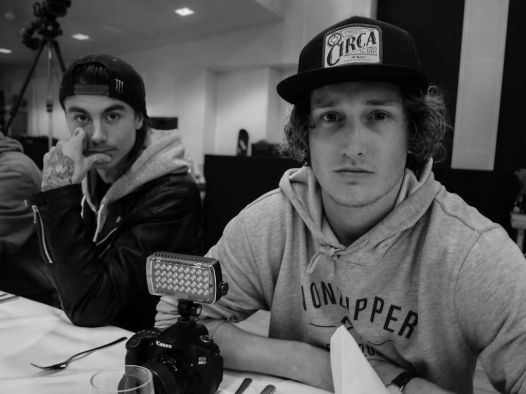 Kevin Backstrom and Markus Wetterberg. Photo: Tom Kingsnorth
