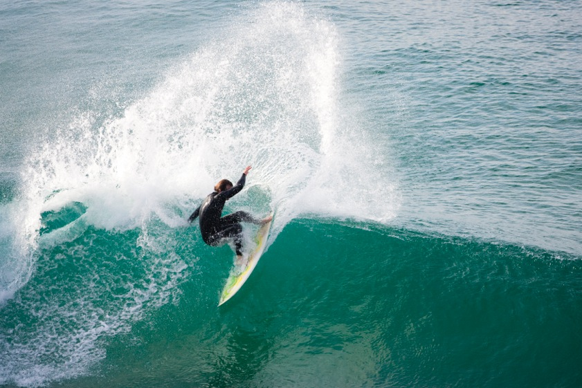 Quirin working hard in the surf industry