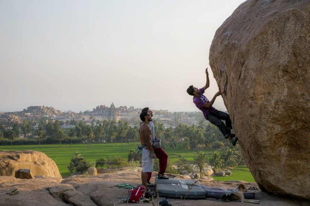 Bouldering not like the last shot we used. Photo: Red Bull