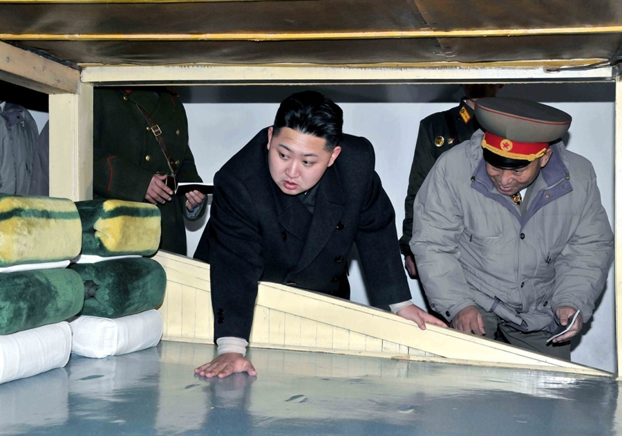 Kim Jong putting in some Twister practise.