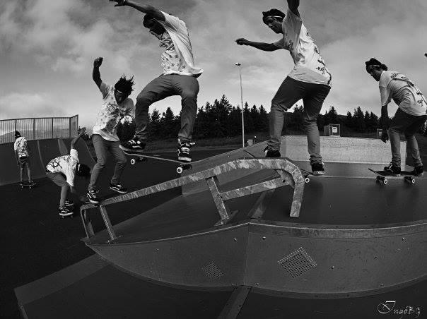 Gulli is a beast on a skateboard too. Photo: Love
