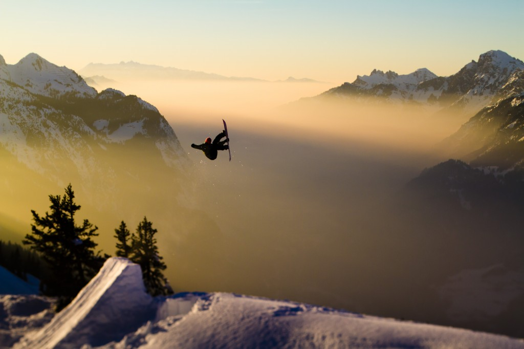 Jed Anderson away from the streets in Arlberg.