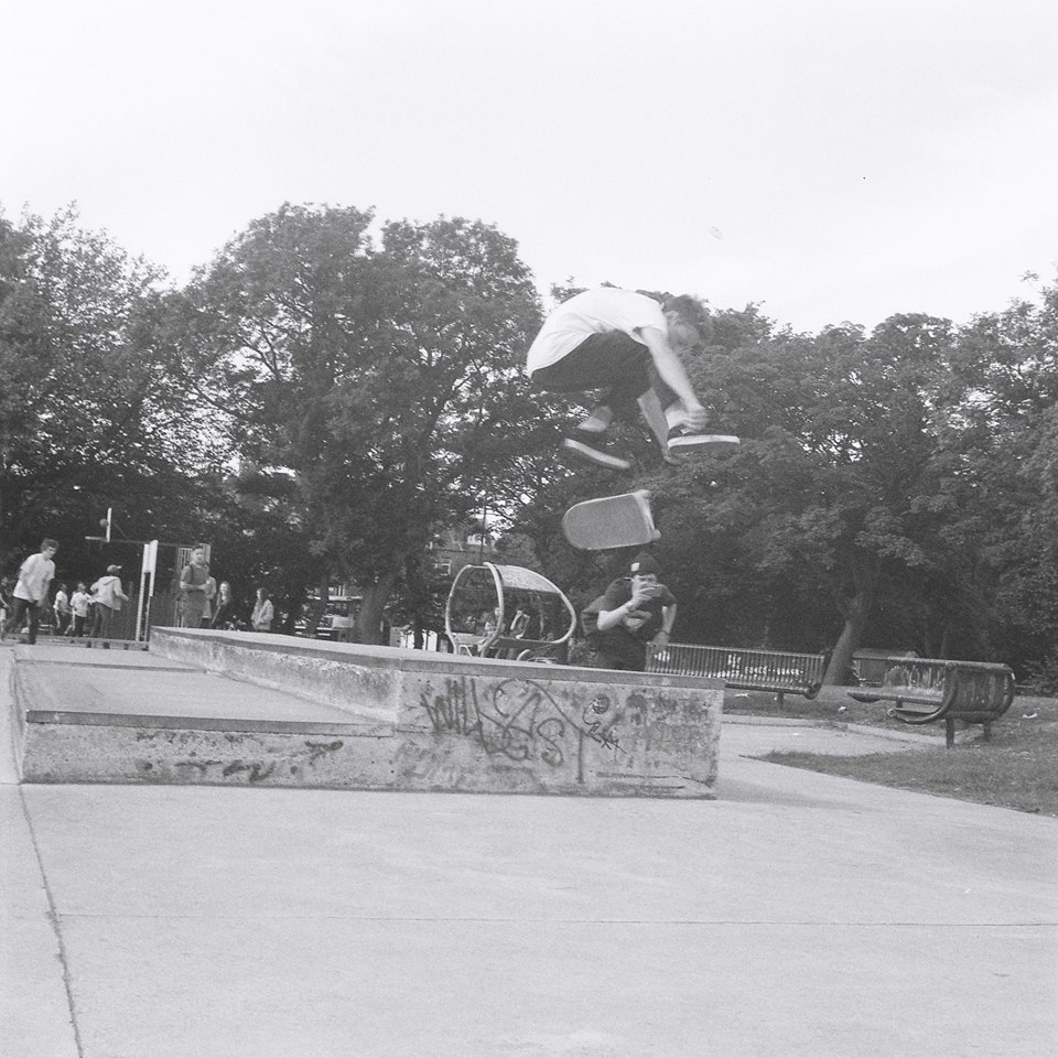Will's handy on a skateboard too. Photo: Ian Thrashmore