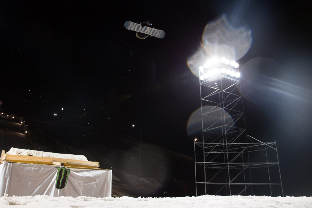 Max Parrot spinning for gold. Photo: Matt McHattie