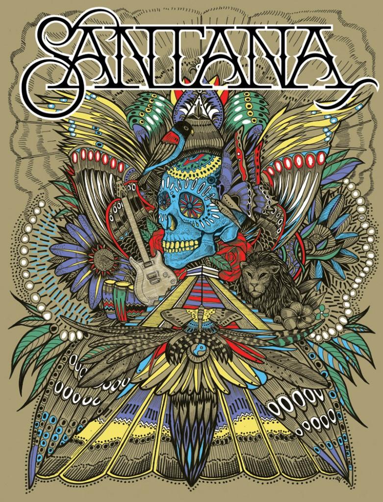 Santana artwork by PJ