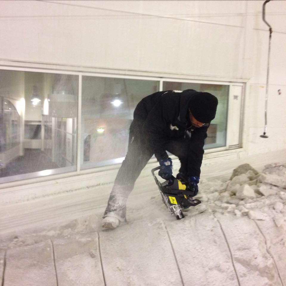 Still destructive but one the ice and not the streets. Photo: Snozone