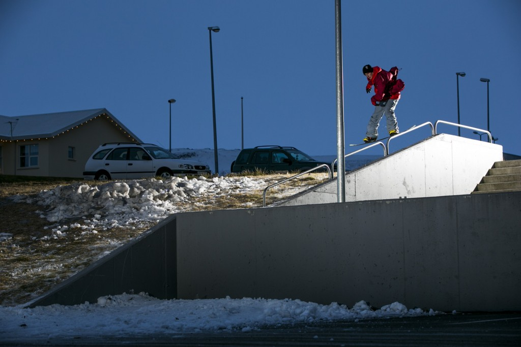 On set for Nevernot, Iceland. Photo: Cyril Mueller