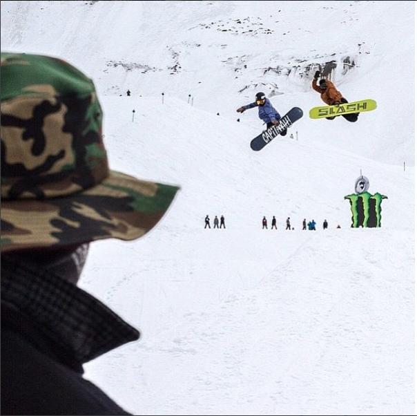 Popping methods with Gigi at Snowboard Spring Break. Photo: Sam Oetiker