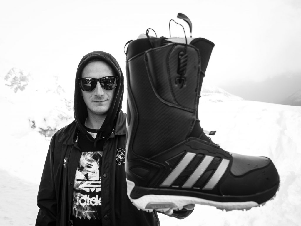 Chris Chatt stoked to be headhunted by adidas snowboarding. These boots are sick