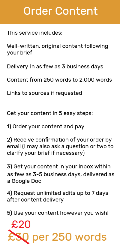 content order