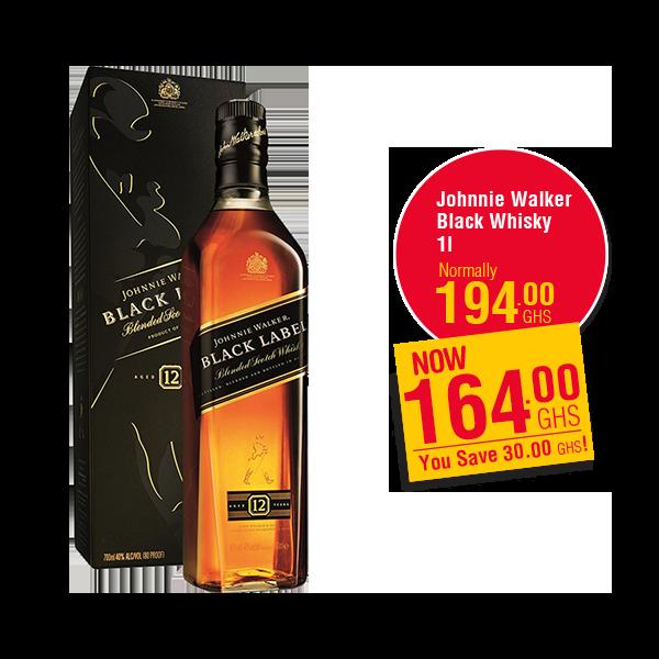 Johnnie Walker  Black Whisky 1l