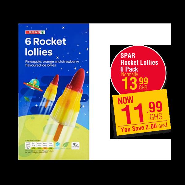 SPAR  Rocket Lollies 6 Pack