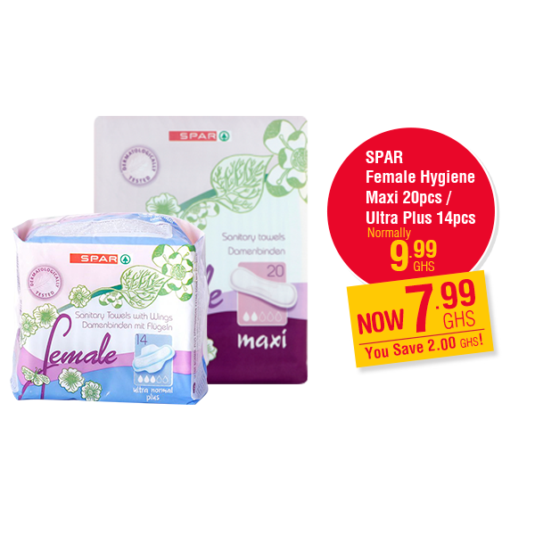 SPAR Female Hygiene Maxi 20pcs / Ultra Plus 14pcs