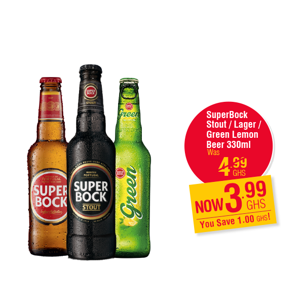 SuperBock Stout / Lager / Green Lemon  Beer 330ml