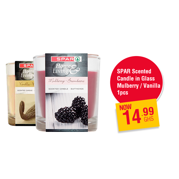 SPAR Scented Candle in Glass Mulberry / Vanilla 1 pcs