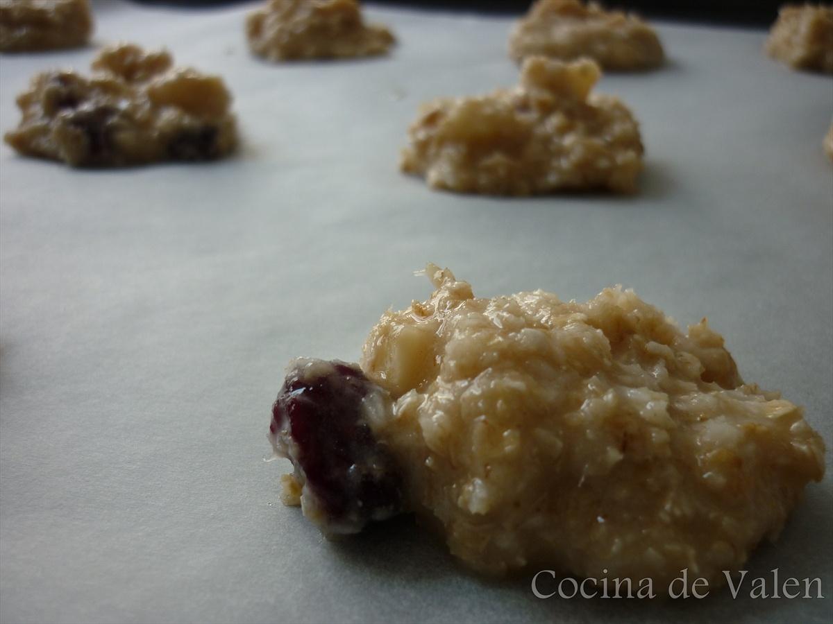 Galletas de Avena y Coco con Arándanos y Nueces de Macadamia
