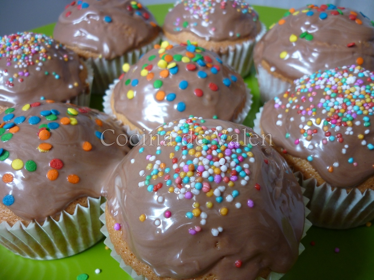 Magdalenas o ponquecitos de vainilla con topping de nutella - Cocina de Valen