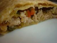 - Empanada de Hojaldre rellena de pollo picado - Cocina de Valen
