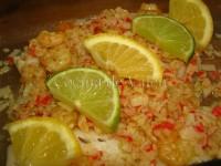 Filete de Merluza con Gambas1 - Cocina de Valen