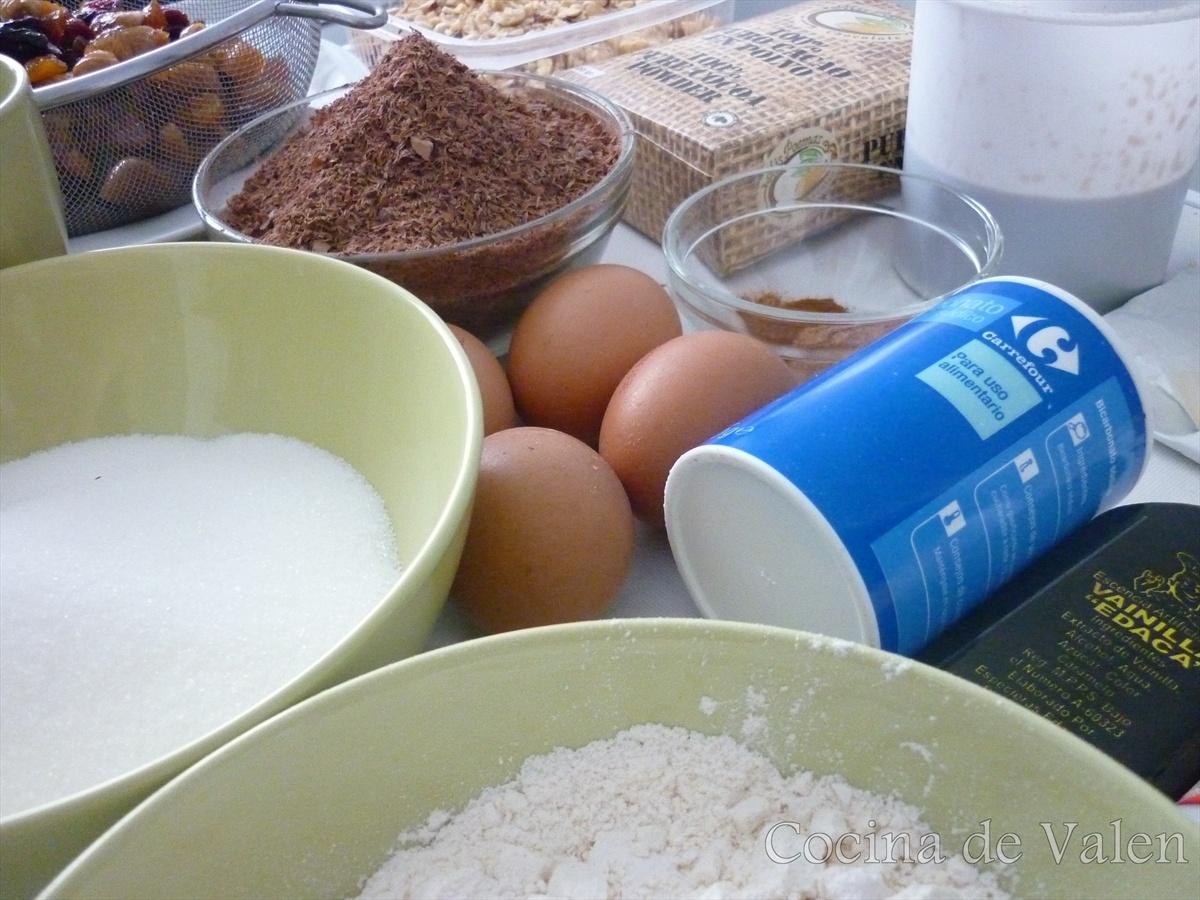 Ingredientes para Torta Negra de Navidad