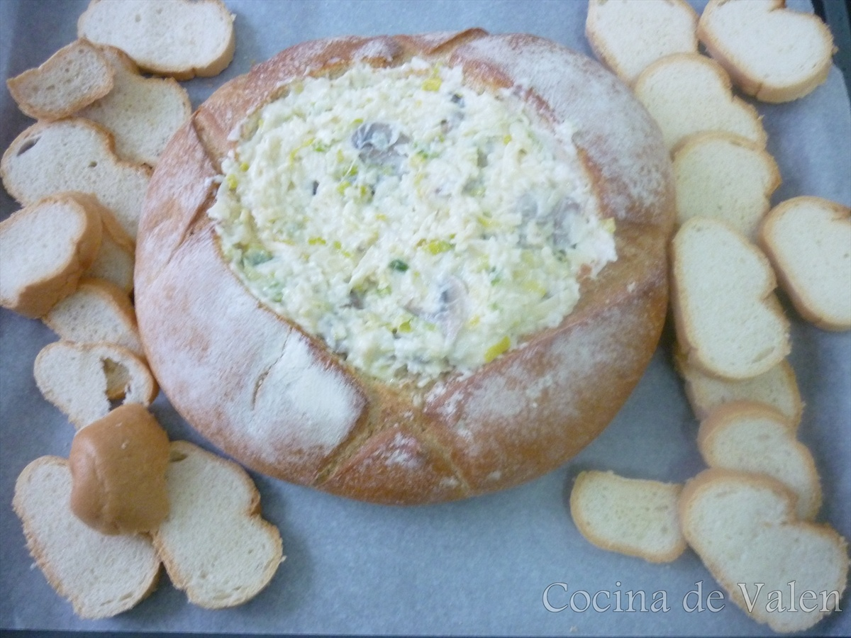 Pan de queso tipo fondue