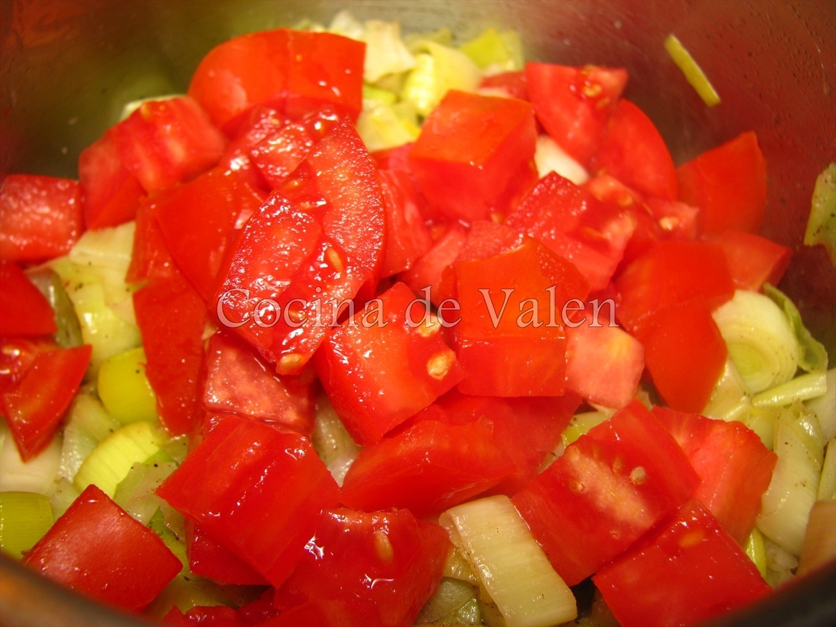 Quiche de Puerro y Tomate - Cocina de Valen