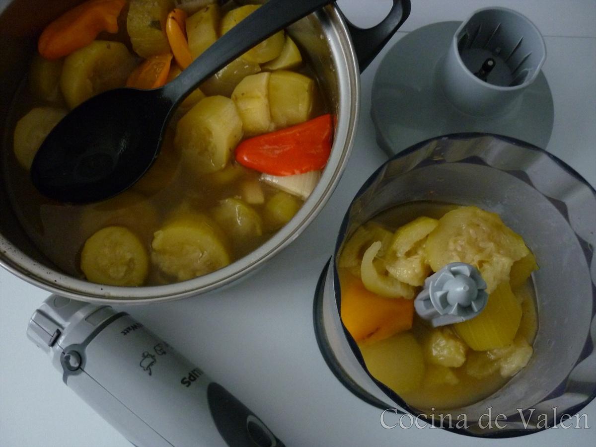 Crema de calabacín - Cocina de Valen