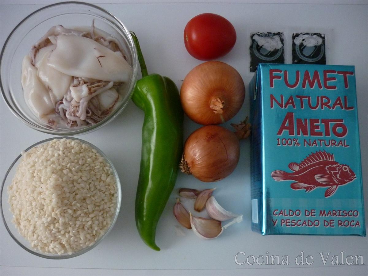 Arroz negro con calamares - Cocina de Valen