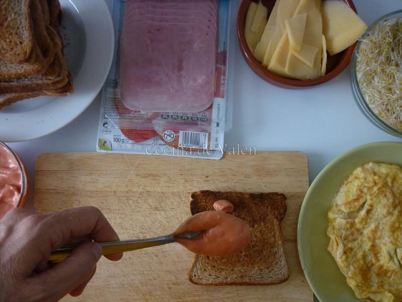 Preparación Club House Sandwich