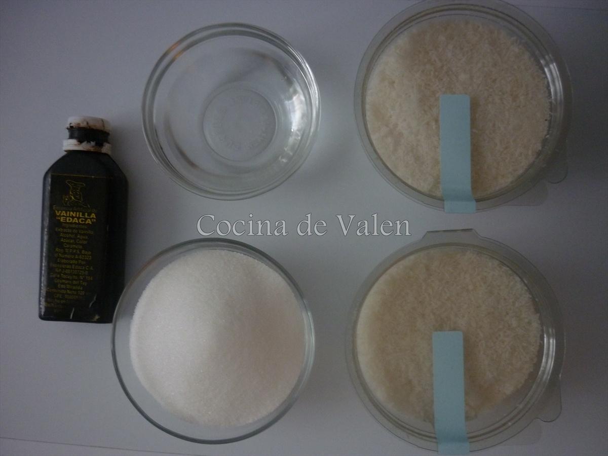 Ingredientes Coquitos Venezolanos