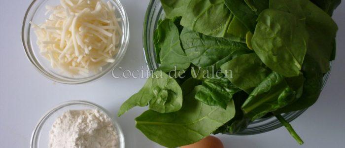 Ingredientes Tortitas de Espinaca