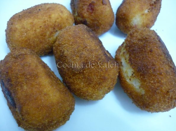 Preparación de las croquetas de merluza - Cocina de Valen
