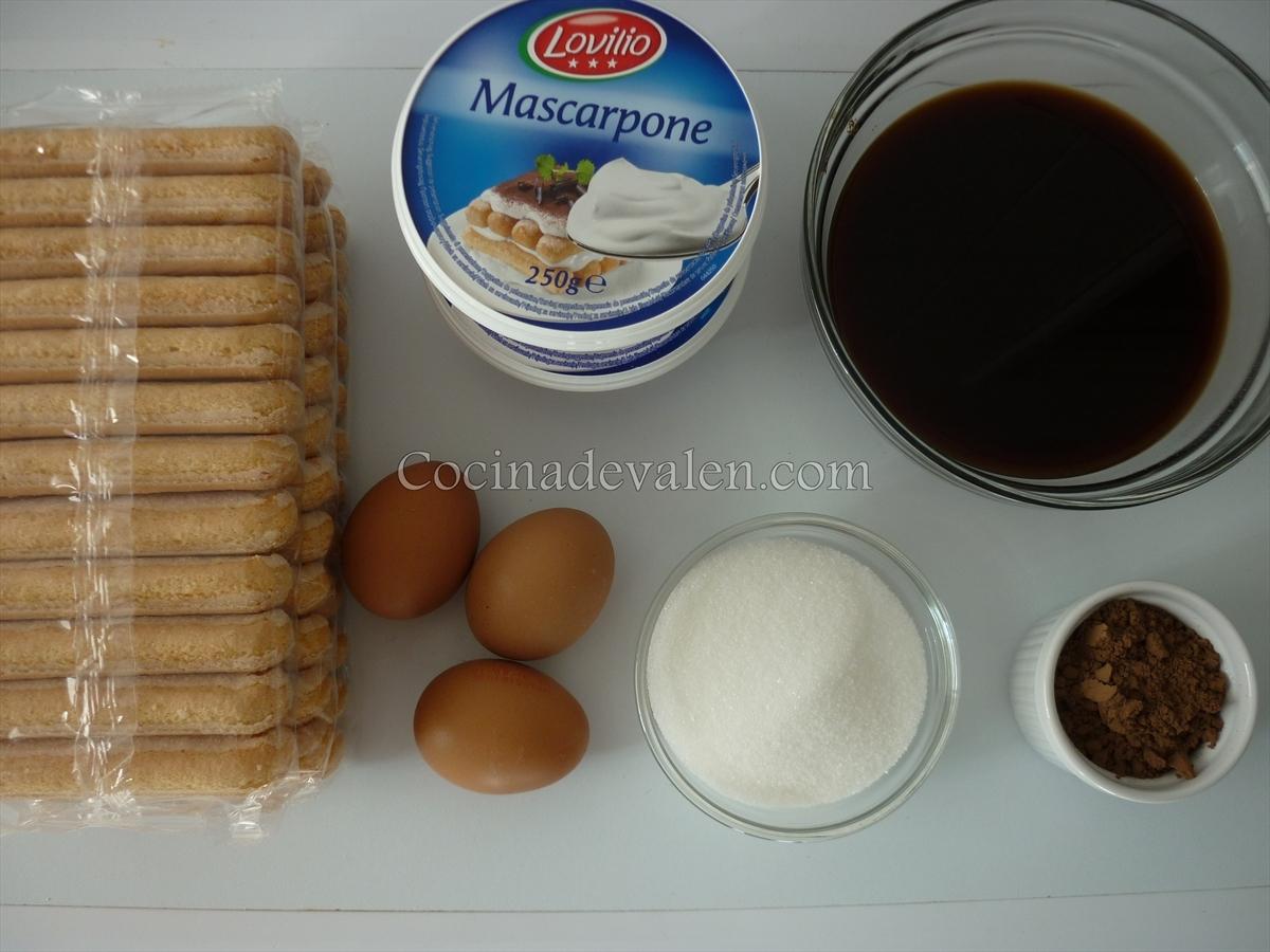 Tiramisú - Cocina de Valen