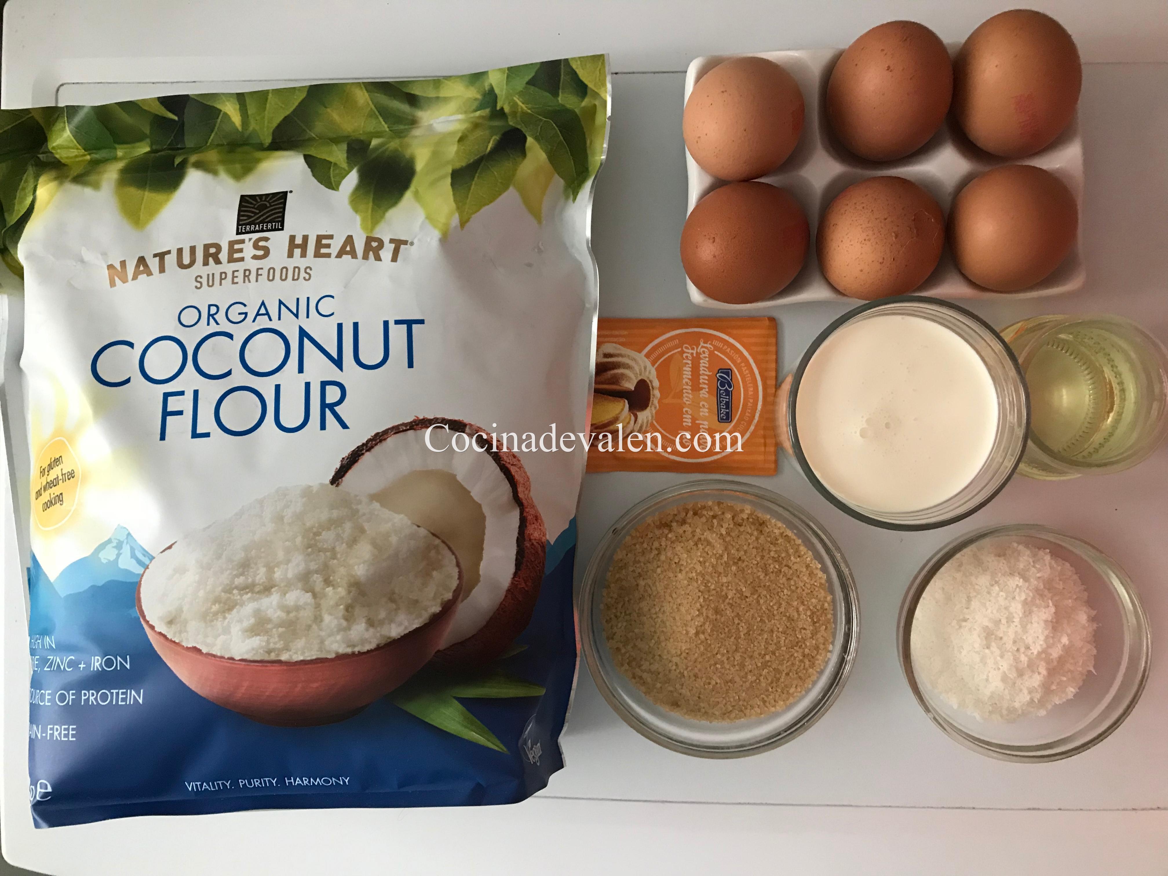 Bizcocho con harina de coco - Cocina de Valen