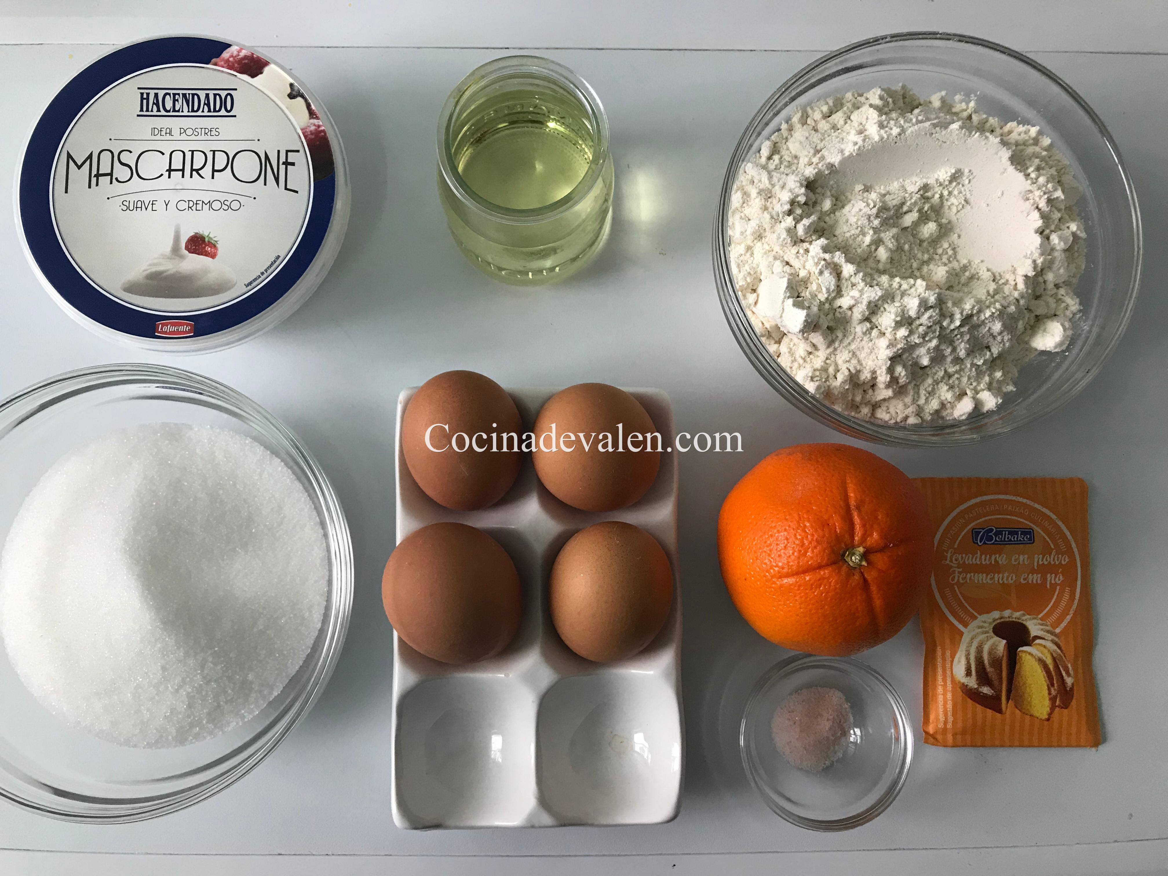 Bizcocho de Mascarpone y Naranja - Cocina de Valen