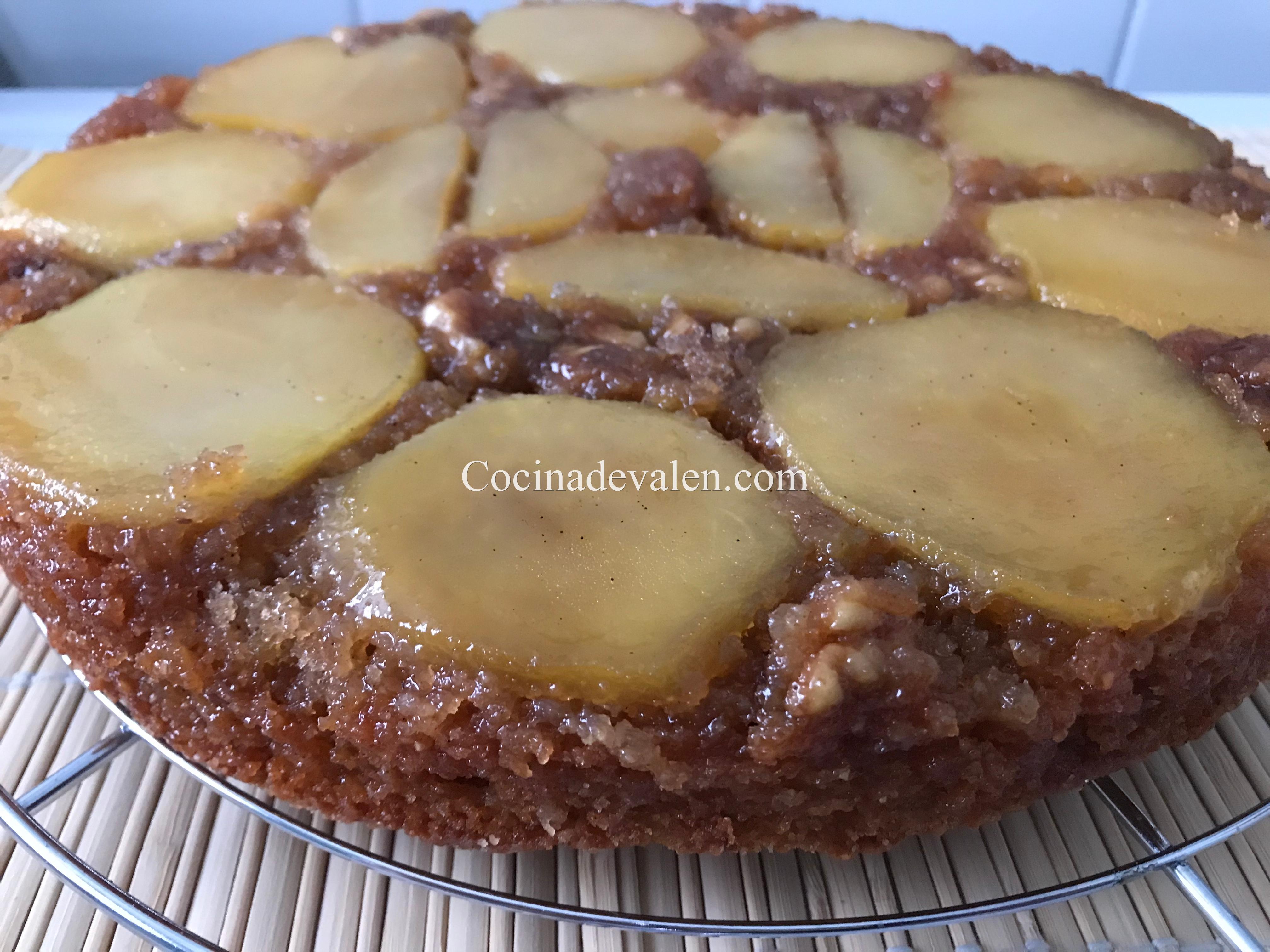 Bizcocho invertido de manzana - Cocina de Valen