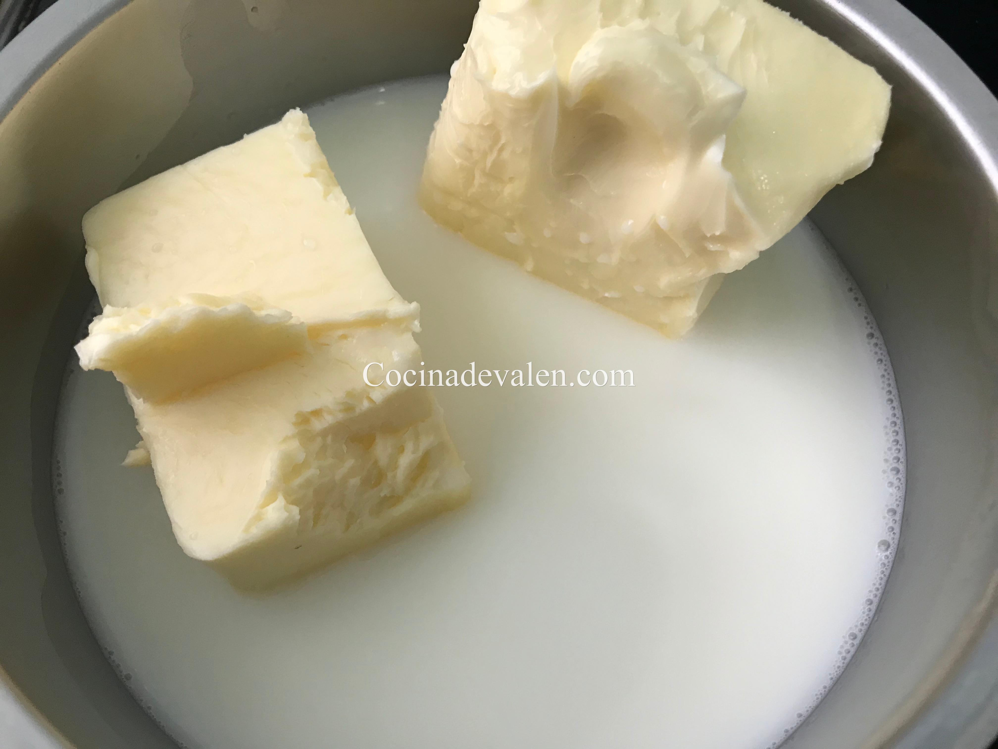 Bizcocho de leche caliente