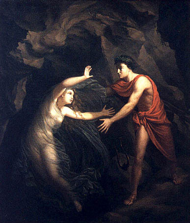 An image of Orpheus and Eurydices by Christian Gottlieb Kratzenstein, Orpheus and Eurydice, 1806, Ny Carlsberg Glyptotek, Copenhagen