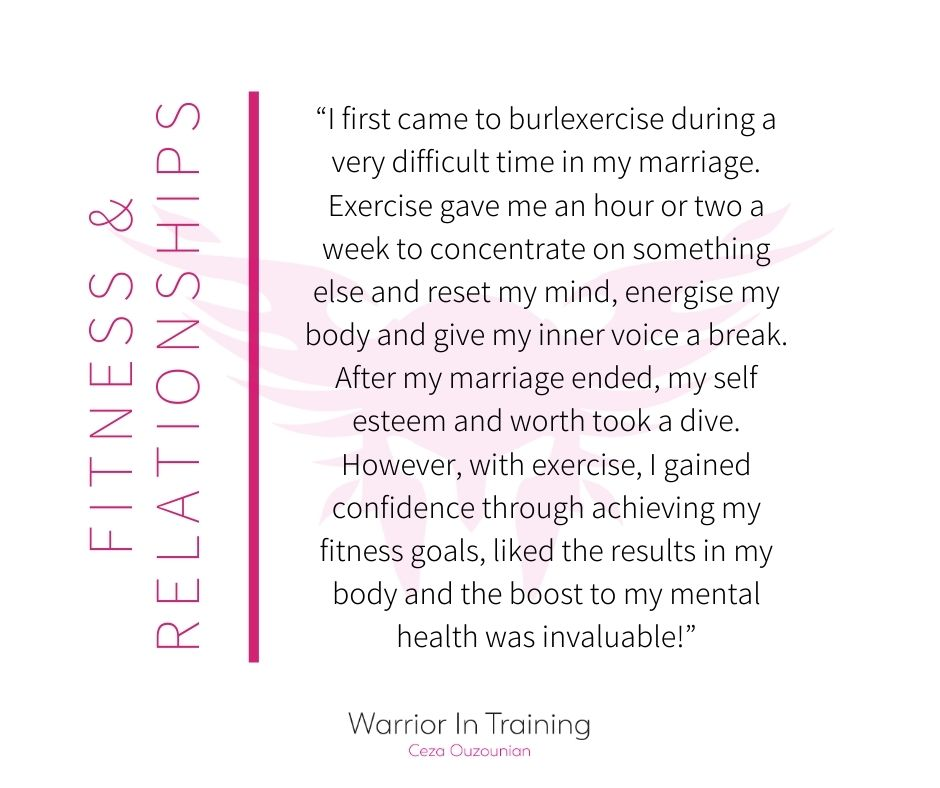 Testimonial about fitness and relationship