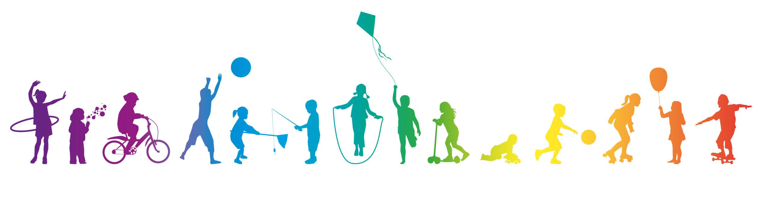 Frise-Jeux d'enfants-arc-en-ciel