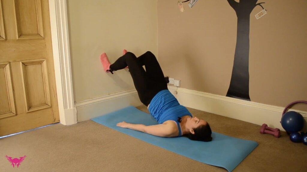 Feet on Wall pilates