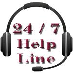 24 x 7 help line