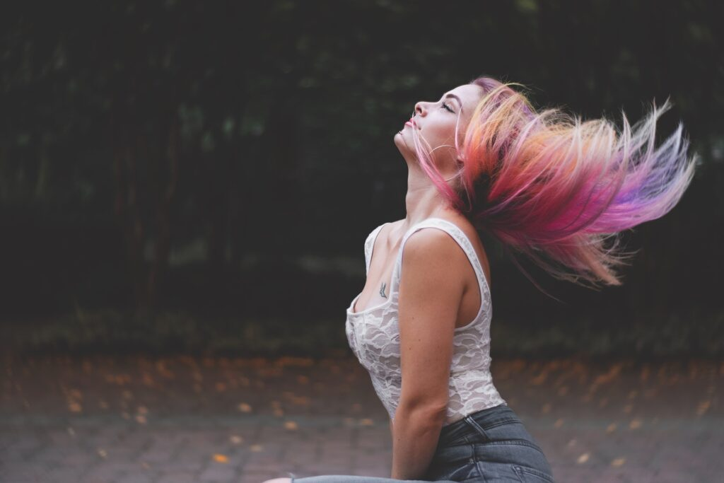 girl-with-rainbow-hair-color-latest-beauty-trends-2020-entertainments-saga